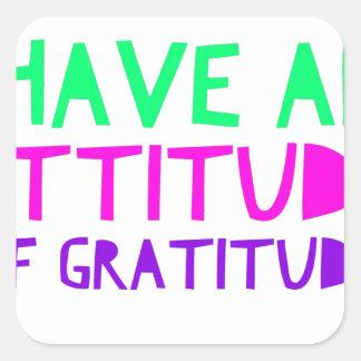 Pegatina Cuadrada Detox AA de la recuperación de la gratitud de la