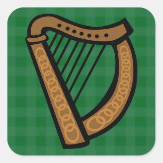 Pegatina Cuadrada Día céltico irlandés de Patricks del santo de la