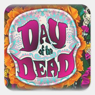 Pegatina Cuadrada Día de los muertos