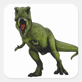 Pegatina Cuadrada Dinosaurios T-Rex