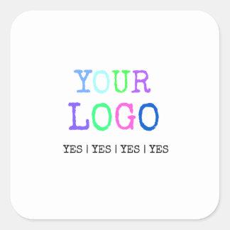 Pegatina Cuadrada Diseñe su propio logotipo personalizado