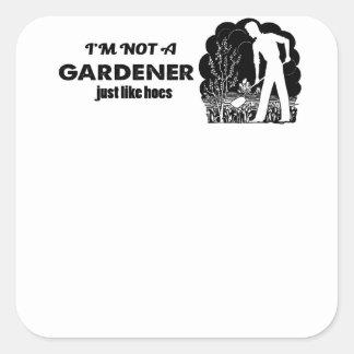 Pegatina Cuadrada diseño del jardinero