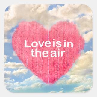 Pegatina Cuadrada Diseño del poster del concepto del amor