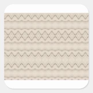 Pegatina Cuadrada Diseño tribal del modelo de zigzag de la pluma