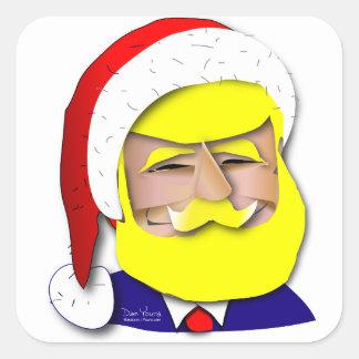 Pegatina Cuadrada Donald Claus