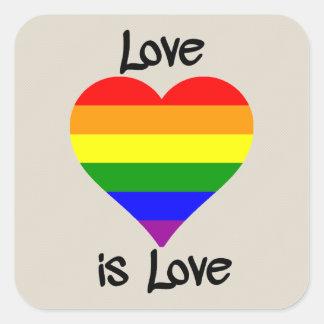 Pegatina Cuadrada El amor es amor