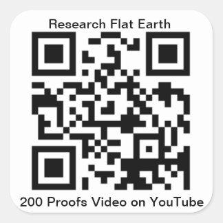 Pegatina Cuadrada El código de QR para la tierra de 200 pruebas es