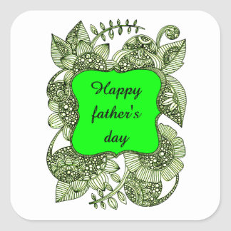 Pegatina Cuadrada El día de padre feliz