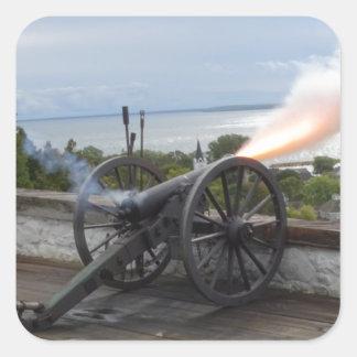 Pegatina Cuadrada El encender de Canon