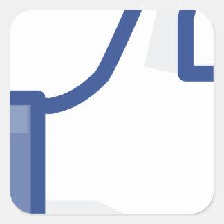 Pegatina Cuadrada ¡el facebook TIENE GUSTO de mí de manosear con los