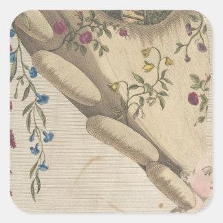 Pegatina Cuadrada El jardín de flores - Matthew Darly