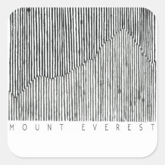 Pegatina Cuadrada El monte Everest