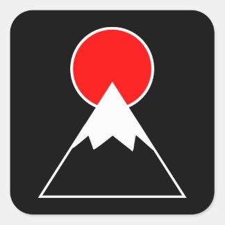 Pegatina Cuadrada El monte Fuji inspiró
