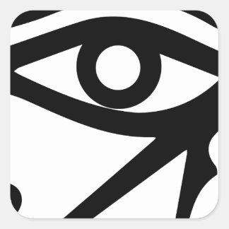 Pegatina Cuadrada El ojo del Ra