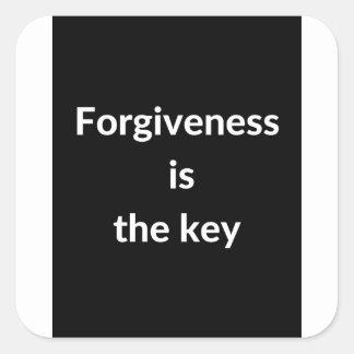 Pegatina Cuadrada El perdón es la llave