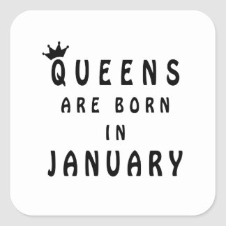 Pegatina Cuadrada El Queens nace en enero