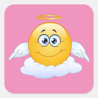 Pegatina Cuadrada El resto en cielo de la paz modifica el ángel de