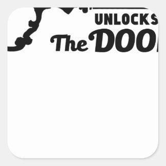 Pegatina Cuadrada El rezo es la llave a todas las puertas