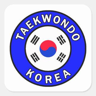 Pegatina Cuadrada El Taekwondo