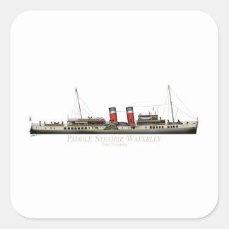 Pegatina Cuadrada El vapor de paleta Waverley de Tony Fernandes