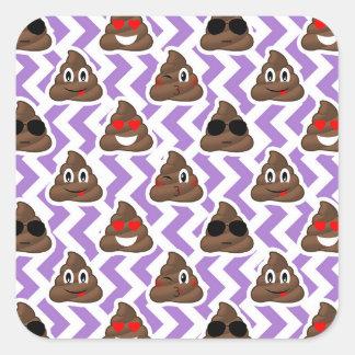 Pegatina Cuadrada El Zig púrpura Zagged modelo de Emoji del impulso