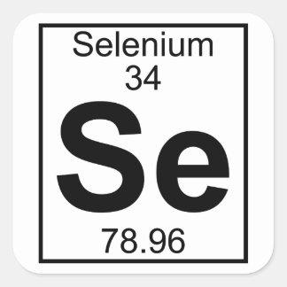 Pegatina Cuadrada Elemento 034 - SE - Selenio (lleno)