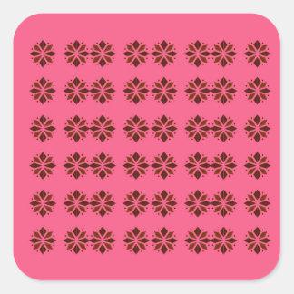 Pegatina Cuadrada Elementos del diseño en rosa