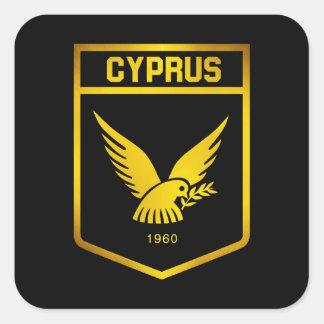 Pegatina Cuadrada Emblema de Chipre