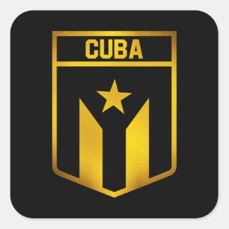 Pegatina Cuadrada Emblema de Cuba