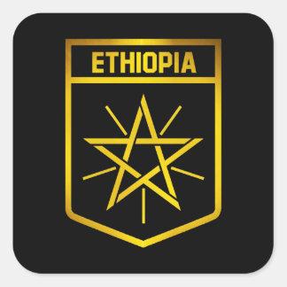 Pegatina Cuadrada Emblema de Etiopía