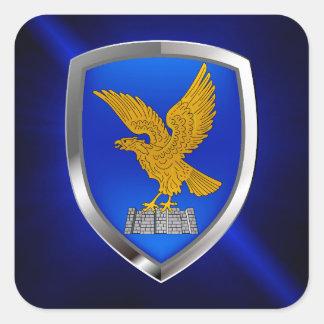 Pegatina Cuadrada Emblema de Friuli Venezia Julia Mettalic