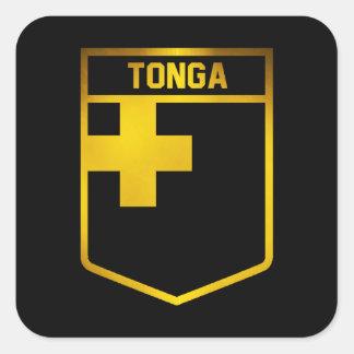 Pegatina Cuadrada Emblema de Tonga