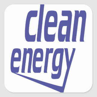Pegatina Cuadrada Energía limpia