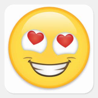 Pegatina Cuadrada Envoltorio para regalos de Emoji