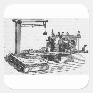 Pegatina Cuadrada Ephemeras antiguas del vintage de la herramienta