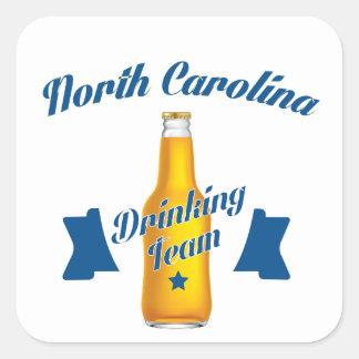 Pegatina Cuadrada Equipo de consumición de Carolina del Norte