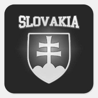 Pegatina Cuadrada Escudo de armas de Eslovaquia