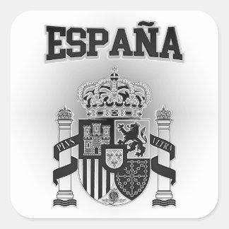Pegatina Cuadrada Escudo de armas de España