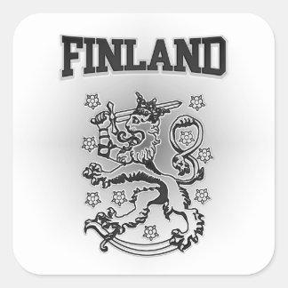 Pegatina Cuadrada Escudo de armas de Finlandia