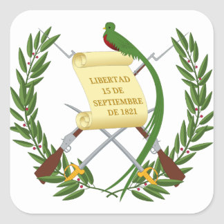 Pegatina Cuadrada Escudo de armas de Guatemala - escudo de armas