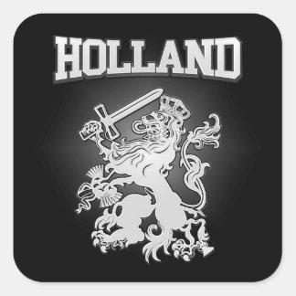Pegatina Cuadrada Escudo de armas de Holanda