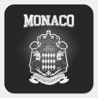 Pegatina Cuadrada Escudo de armas de Mónaco