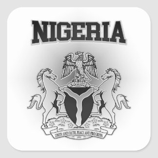Pegatina Cuadrada Escudo de armas de Nigeria