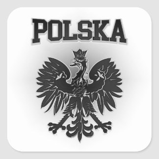Pegatina Cuadrada Escudo de armas de Polska