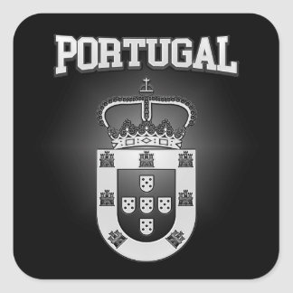 Pegatina Cuadrada Escudo de armas de Portugal