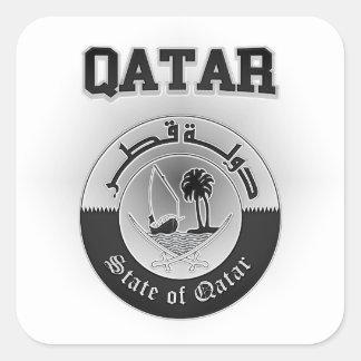 Pegatina Cuadrada Escudo de armas de Qatar