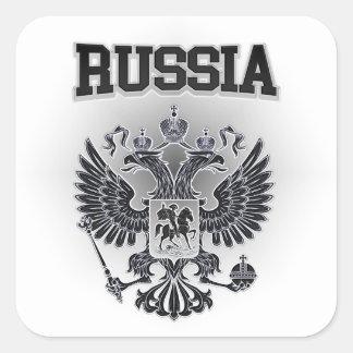 Pegatina Cuadrada Escudo de armas de Rusia
