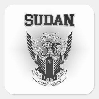Pegatina Cuadrada Escudo de armas de Sudán