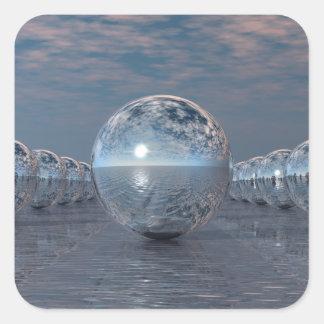Pegatina Cuadrada Esferas en The Sun