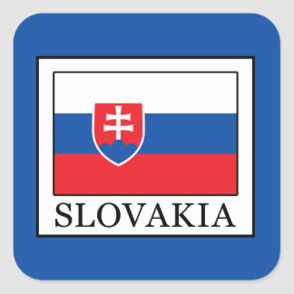 Pegatina Cuadrada Eslovaquia